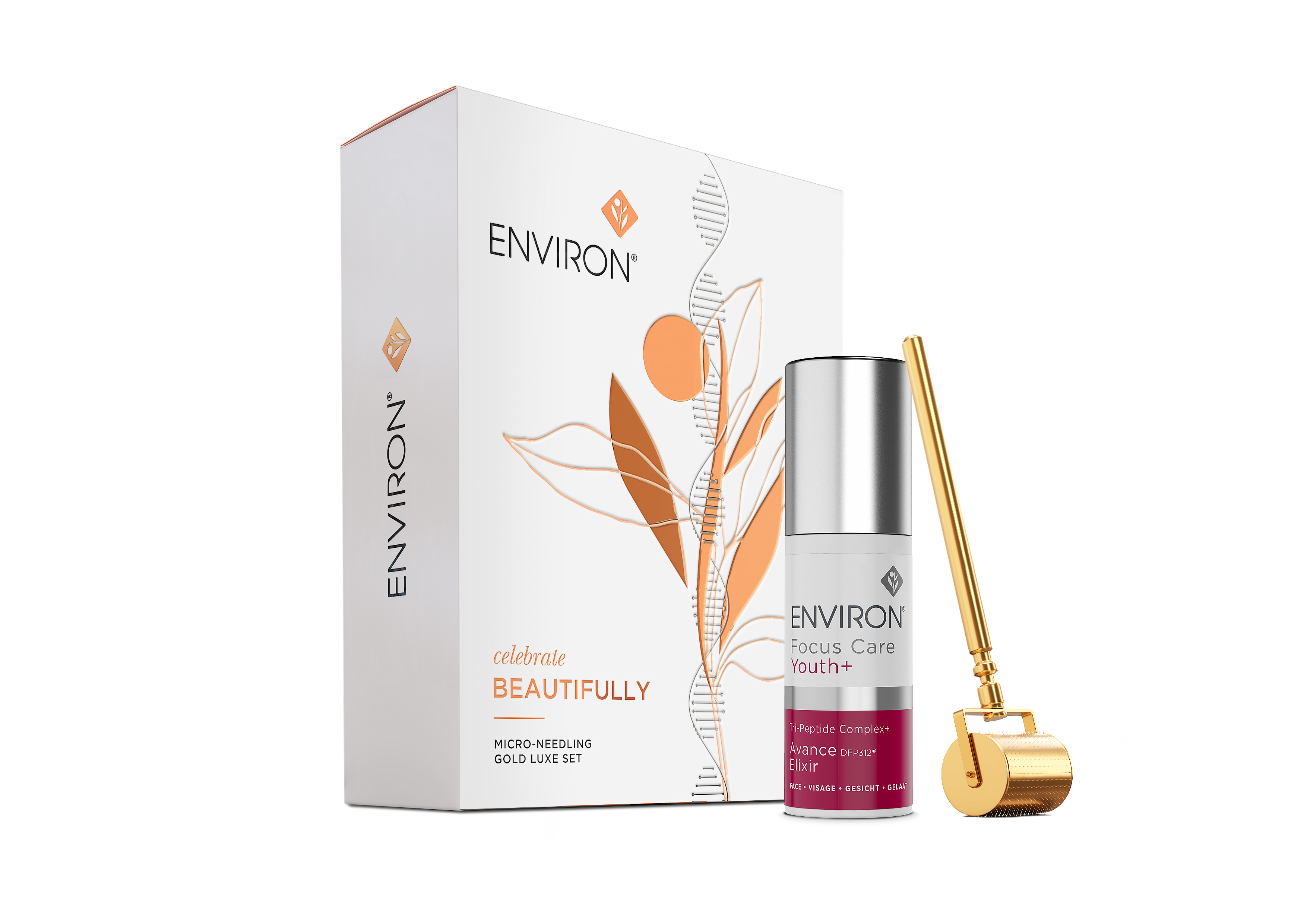 janet notes nyc, environ gold roller gift set